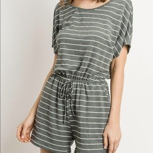 Pants - Brand New Striped Comfortable Knit Romper